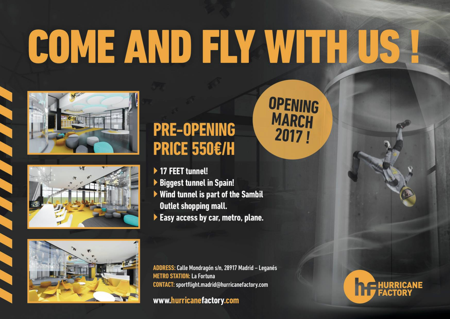 Hurricane Factory Madrid Pre-Opening Offer