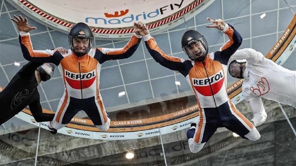 Marquez & Pedrosa - Indoor Skydiving