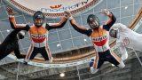 Marquez & Pedrosa - Indoor Skydiving