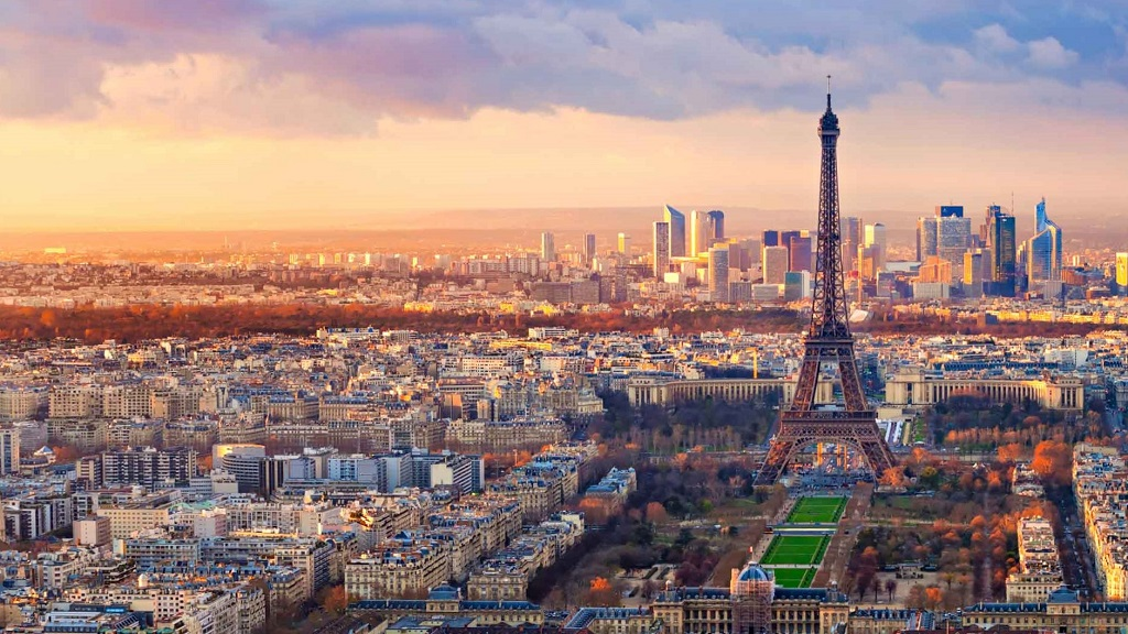 Aerial view of Paris - France