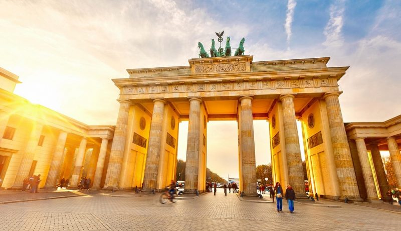 Brandenburg gate at sunset – Berlin, Germany