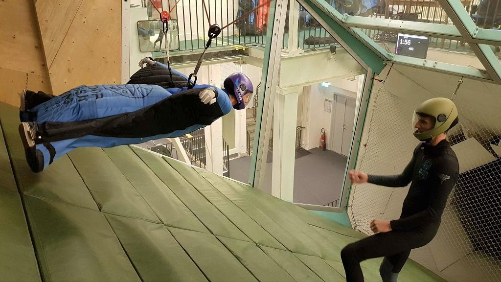 Indoor Wingsuit - First Flight