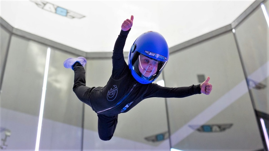 AIRSPACE Indoor Skydiving - Flying Kid